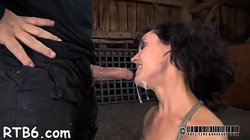 authoritative is providing ball-gagged girl a violent muff pleasing