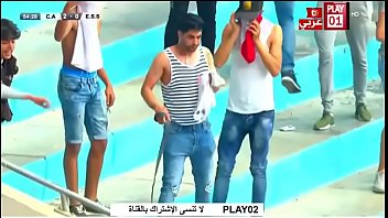 Tunisian supporter shows his dick to police