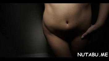 alluring nubile hotty goes kinky staying alone and.