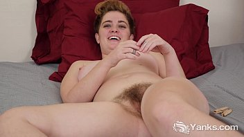 thick-titted megan milking her furry vulva