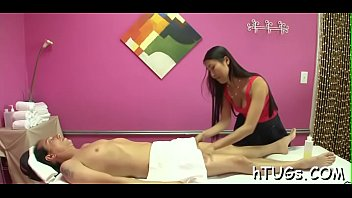 puny oriental masseuse is affected at the size.