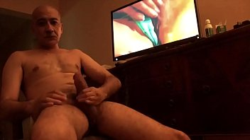 jacking off while watching porn