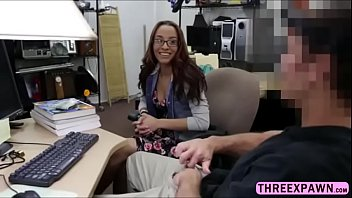 pretty ebony-haired school nubile pulverizes by monstrous firm-on.